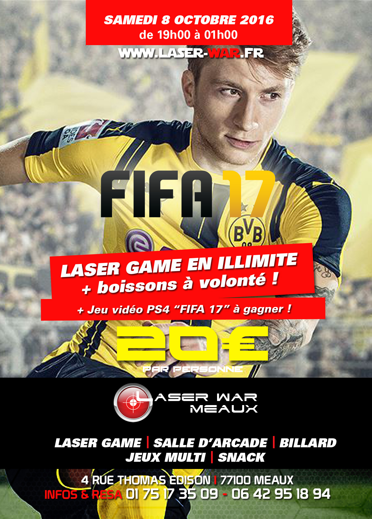 fifa 17 party laser war. Black Bedroom Furniture Sets. Home Design Ideas